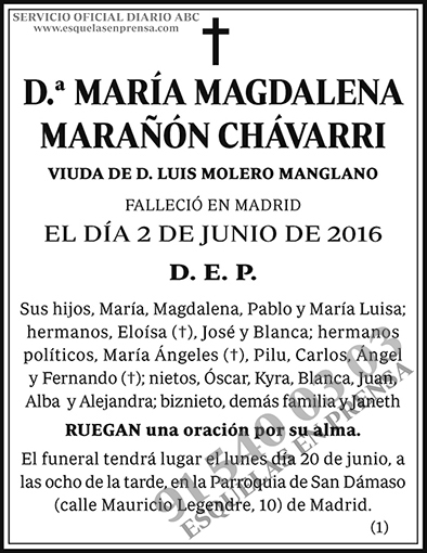 María Magdalena Marañón Chávarri